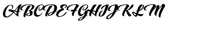 Praise Brush Font UPPERCASE