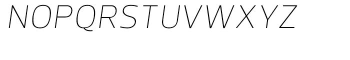 Prelo Extra Light Italic Font UPPERCASE
