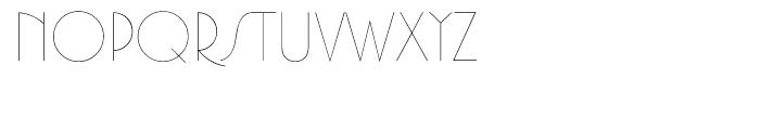 Premier Lightline Font UPPERCASE