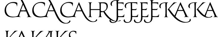 Prestige D Light Font UPPERCASE