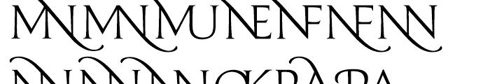 Prestige D Light Font LOWERCASE