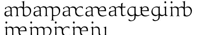 Prestige E Light Font LOWERCASE