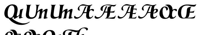 Prestige G Bold Font UPPERCASE
