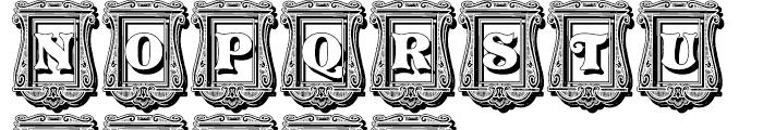 Pretoria Gross Decorative Shadow Regular Font UPPERCASE