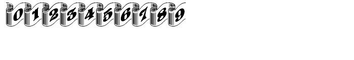 Pretoria Gross Ribbon Regular Font OTHER CHARS