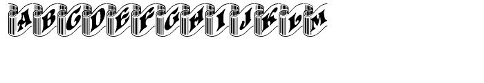 Pretoria Gross Ribbon Regular Font UPPERCASE