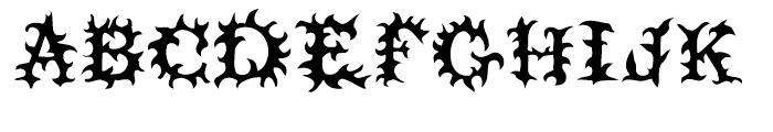 Prick Regular Font UPPERCASE