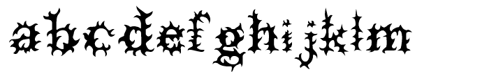 Prick Regular Font LOWERCASE