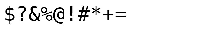 Prima Sans Mono Roman Font OTHER CHARS