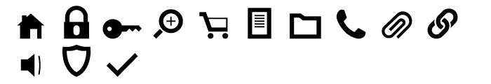 Primitive Icons Regular Font UPPERCASE
