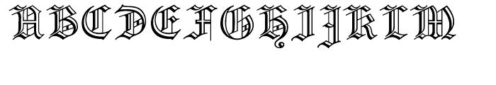 Prinzess Gravur Regular Font UPPERCASE