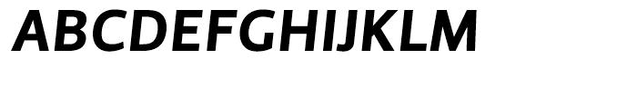 Priva Four Italic Font UPPERCASE
