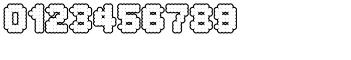 Procyon Bloated Outline Font OTHER CHARS