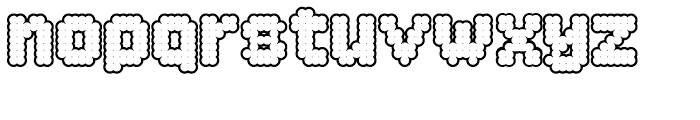 Procyon Bloated Outline Font LOWERCASE