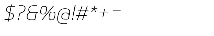 Prometo Thin Italic Font OTHER CHARS