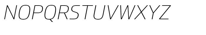 Prometo Thin Italic Font UPPERCASE