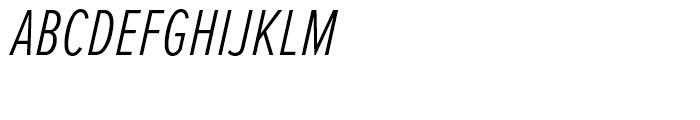 Proxima Nova Extra Condensed Light Italic Font UPPERCASE