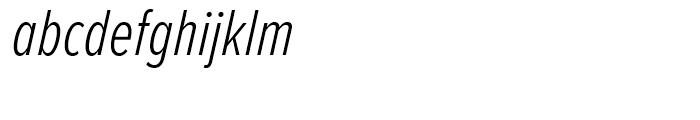 Proxima Nova Extra Condensed Light Italic Font LOWERCASE