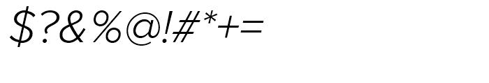 Proxima Nova Light Italic Font OTHER CHARS