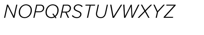 Proxima Nova Light Italic Font UPPERCASE