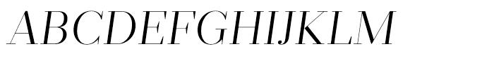 Prumo Display Light Italic Font UPPERCASE