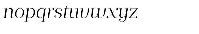 Prumo Display Light Italic Font LOWERCASE