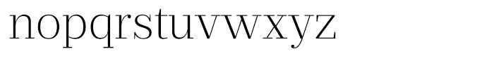 Prumo Text Extra Light Font LOWERCASE