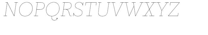 Prumo Text Hairline Italic Font UPPERCASE