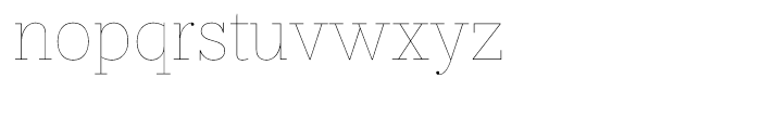 Prumo Text Hairline Font LOWERCASE