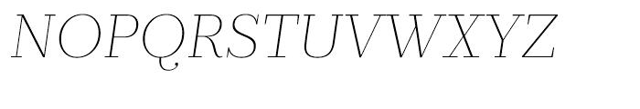 Prumo Text Thin Italic Font UPPERCASE