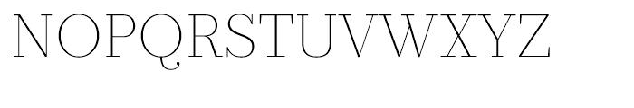 Prumo Text Thin Font UPPERCASE