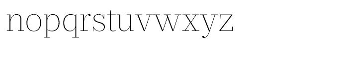 Prumo Text Thin Font LOWERCASE