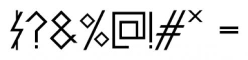 PRIMITIVE Bold Font OTHER CHARS