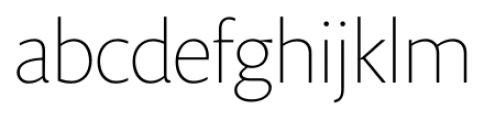 Prenton RP Display Thin Font LOWERCASE