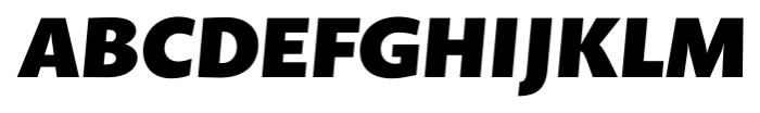 Prenton RP Pro Black Italic Font UPPERCASE