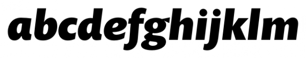 Prenton RP Pro Black Italic Font LOWERCASE