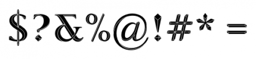 Priori Acute Serif Font OTHER CHARS