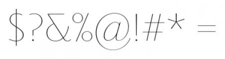 Priori Sans Ultra Light Font OTHER CHARS