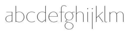 Priori Sans Ultra Light Font LOWERCASE