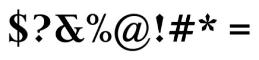 Priori Serif Bold Font OTHER CHARS