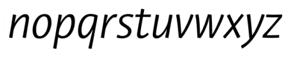 Private Sans Italic Font LOWERCASE