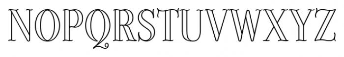 Provincial Outline Font UPPERCASE