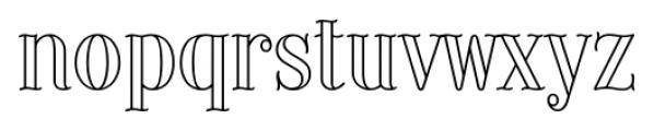 Provincial Outline Font LOWERCASE