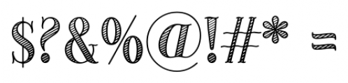 Provincial Shaded Font OTHER CHARS