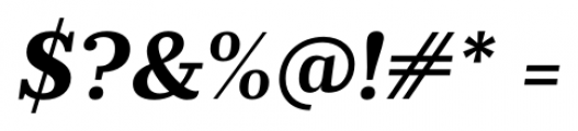 Prumo Banner Bold Italic Font OTHER CHARS