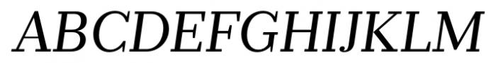 Prumo Banner Book Italic Font UPPERCASE