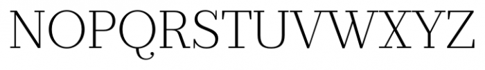 Prumo Banner Extra Light Font UPPERCASE