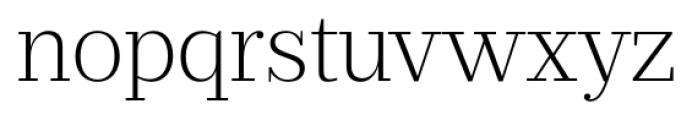 Prumo Banner Extra Light Font LOWERCASE