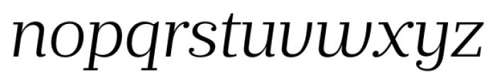 Prumo Banner Light Italic Font LOWERCASE