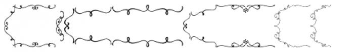 PR-Swirlies-01-Frames Font UPPERCASE